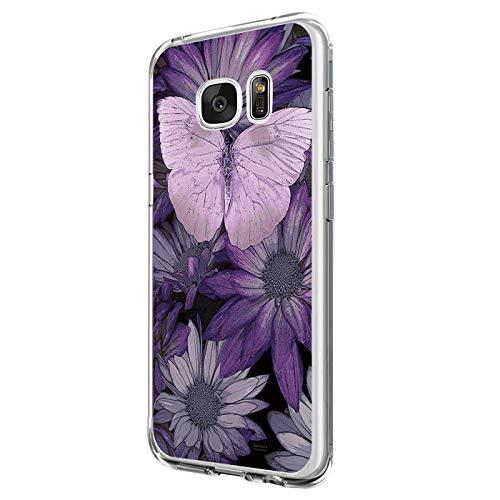 Pacyer kompatibel mit Galaxy S7 / S7 Edge Hülle Silikon Ultra dünn Transparent Handyhülle Durchsichtige Rückschale TPU Schutzhülle Case Cover Blume Kaktus (7, Galaxy S7)