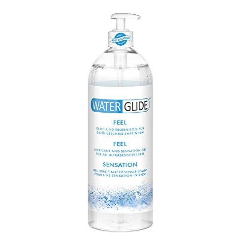 Gleitgel Waterglide Feel, wasserbasierte Langzeitwirkung, gefühlsechtes Empfinden, 1000 ml