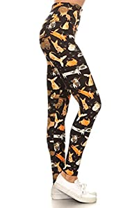 Leggings covered with dogs