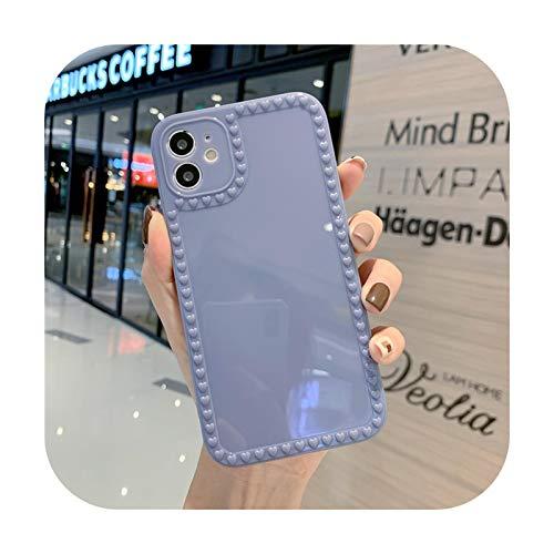 Preciosa cámara protección teléfono caso para iPhone 11 Pro Max 12 Mini 7 8 Plus XS Max X XR 12 Pro SE 2020 caramelo Color parachoques Shell-Gris-Para iPhone 8 Plus
