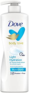 Dove Body Love Light Hydration Body Lotion For All Skin Types Paraben Free, 48hrs Moisturisation with Plan Based moisturis...