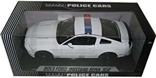 2013 Ford Mustang Boss 302 White Unmarked Police Car 1/18 by Shelby Collectibles SC463 by Shelby Collect