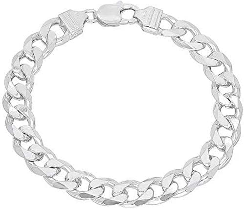Silverwala Silver Sterling 92.5 Silver Curb Bracelet for Men and Boys