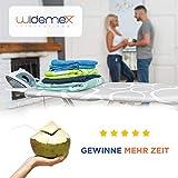 Widemex Exklusiver 5-Lagen Bügelbrettbezug inkl. 4 Spannclips | Bezugsgröße 115 x 35 cm (S) | Obermaterial widerstandsfähig und aus 100% Baumwolle | Made in Europe - 7