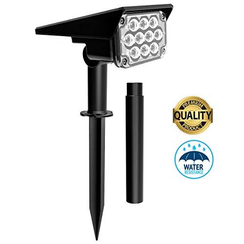 Luce Solare 20 LED Faretto da Esterno, T-SUN IP65 Lampade Solari da Giardino con 2 Modalità di Illuminazione, Lampade Solari Regolabili 2-in-1 per Giardino, Cortile, Alberi, Prato.(1 pezzi)