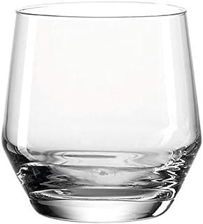 Leonardo Puccini Trink-Gläser, 6er Set, spülmaschinenfeste Wasser-Gläser, Trink-Becher aus Glas, Saft-Gläser im modernen Stil, 310 ml, 069557