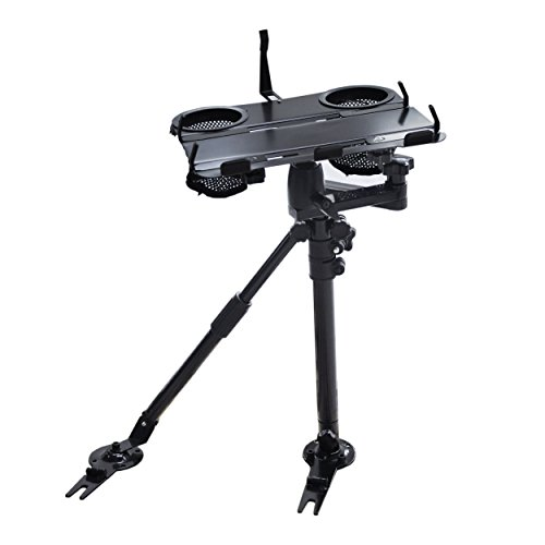 AA Products K002-AS Car Under Seat Installation Laptop Stand with Ball-Head (Non-Drilling Bracket and Aluminum Supporting Arm Included)