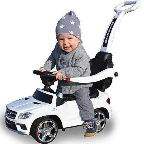 Stimo Mercedes Benz AMG Rutschauto (offiziell lizenziert) Kinder Fahrzeug Rutscher Auto (AMG GL-63 Weiss)