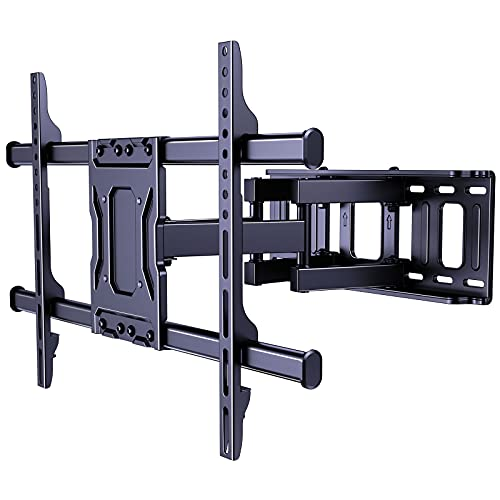 Totnz Full Motion TV Wall Mount for Most 37-75 Inch TVs Articulating Dual Arms Swivel Extension Rotation Tilts LED LCD OLED Flat Curved Screen TVS & Monitors, Max VESA 600x400mm Up to 132lbs