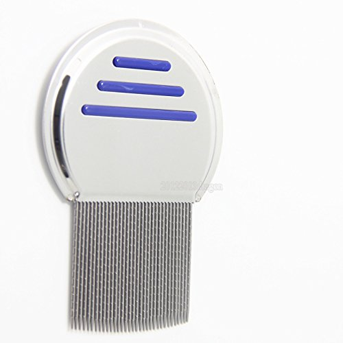Stainless Steel  Head Lice Comb For Pets And Humans For LiceFlea and Tick RemovalBlue