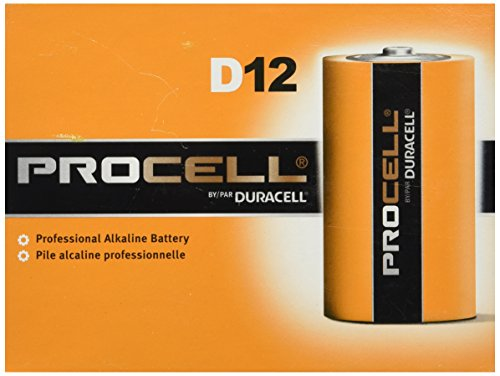 Our #2 Pick is the Duracell PC1300 1.5V D12 Procell Alkaline Batteries