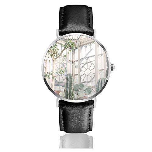 Reloj de efecto invernadero con movimiento de cuarzo impermeable correa de reloj...
