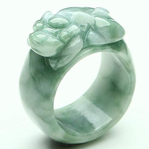 N/V Burmesischer Jadeit Ring Schwimmend Grün Pi Show Jade Ring