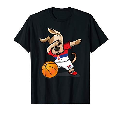 Dog Dabbing Basketball Serbia Jersey Serbian Team Shirt