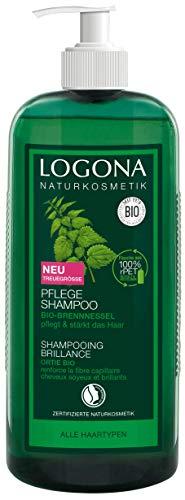 LOGONA Naturkosmetik Pflege Shampoo Bio-Brennnessel, Milde Reinigung für jedes Haar, Schenkt natürlichen Glanz&Frische, Für die ganze Familie & täglichen Anwendung, Vorteilsgröße & Pumpspender, 750ml