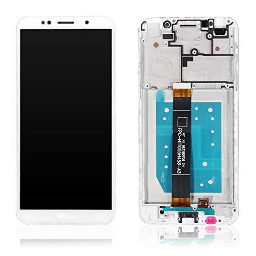 XCYY Pantalla LCD de repuesto de 5,4 pulgadas para Neffos C9A TP706A + digitalizador de pantalla táctil LCD de repuesto de teléfono (color blanco con marco).