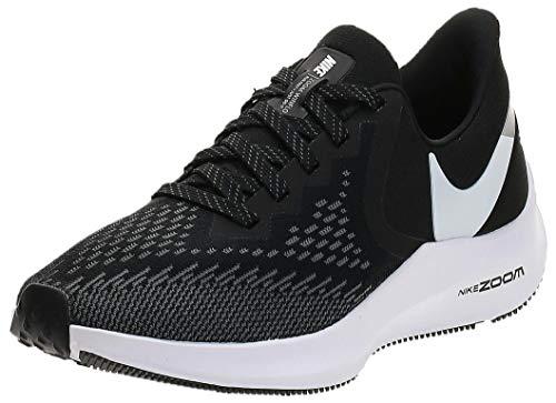Nike Women's WMNS Zoom Winflo 6 Track & Field Shoes, Multicolour (Black/White/Dark Grey/MTLC Platinum 3), 4 UK