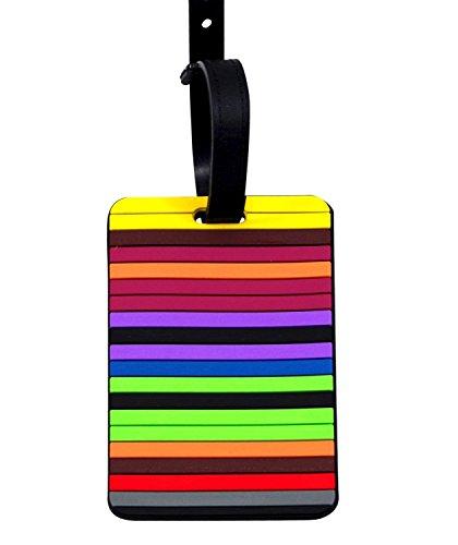 LAAT Étiquette de Bagage Porte-clés avec étiquette Changeable Personnalisable Couleurs Mixtes pour Armoire à clés Key Box Cartoon Créativité pour Voyage Train Bagage Etiquettes 1 pc