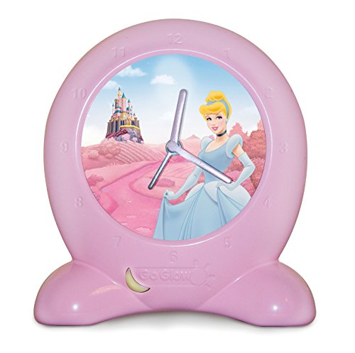 Worlds Apart Horloge d'Apprentissage Veilleuse Disney Princesses Rose