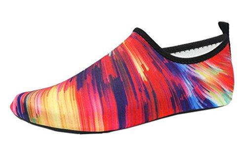 Bigood Extérieurs Nager Unisexe Chaussure d'eau Plage Casual Chausson Respirant Multicolore#B 39/40EU