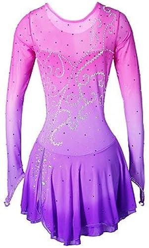 Heart&M Robe de Patinage Patinage Jupes Robes Haute élasticité Robe de Patinage Artistique Fait à la Main Spandex Tenue de Patinage