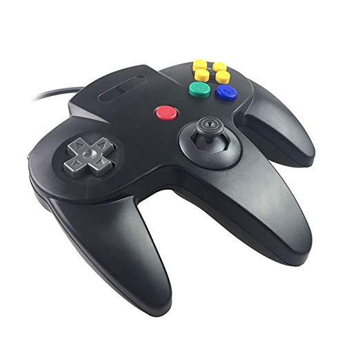 Eaxus® N64 Controller - Gamepad für Nintendo 64, Schwarz
