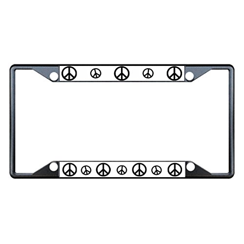 Fastasticdeals Peace Sign Signs License Plate Frame Tag Holder Cover