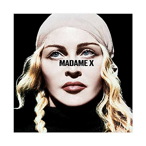 Sexy E Bella Femminile Singer Madonna Album Copertina Madame X 1 Poster Tela Decorazione Camera Da Letto Decorazione Paesaggio Ufficio Camera Decor Regalo Unframe-style 30x30 cm