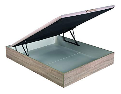 ROYAL SLEEP Canapé Abatible (135x190) de Gran Capacidad, Tapa 3D Transpirable, Color Natural