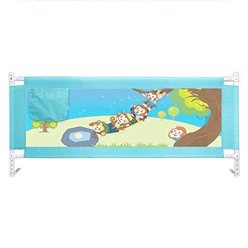 Barrière RQ Guide Baby Garde-Corps incassable, Levage Vertical -150cm, 180cm, 200cm (Color : Blue, Size : L-200cm)