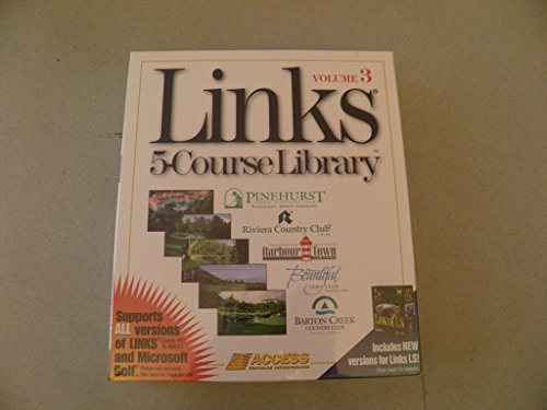 LINKS 5-COURSE LIBRARY VOLUME 3 (CD-ROM ADD-ON SOFTWARE FOR GOLF PC GAME) (1996 ACCESS SOFTWARE INC.)