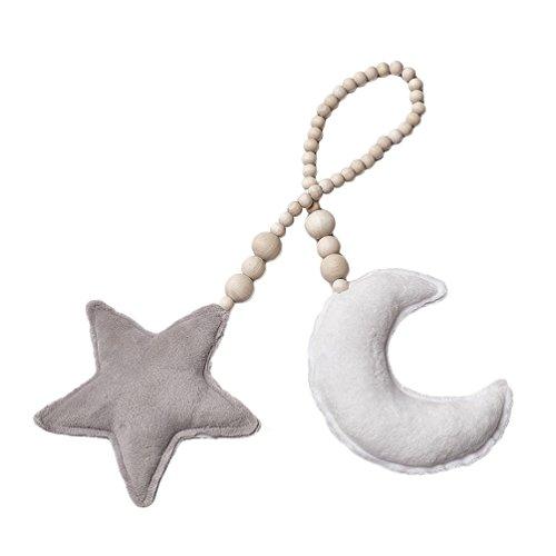 bismarckbeer Kinder-Tipi mit Mond und Stern, Dekoration für Kinderbett, Hängeornament, Fotografie-Requisiten, 2#, Einheitsgröße