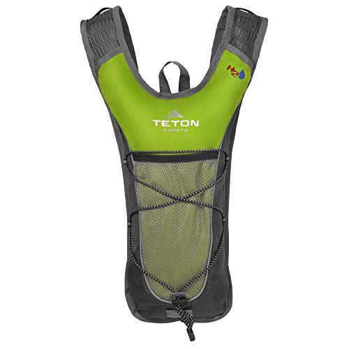 TETON Sports TrailRunner 2.0 Hydration Pack; Backpack for Hiking, Running and Cycling; Free 2-Liter Hydration Bladder; Bright Green, 16.5' x 10.5' x .7', Model Number: 1000BG