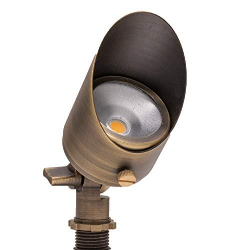Lumen Logic 12V Brass Integrated LED Outdoor Spotlight with Stake (Bronze)