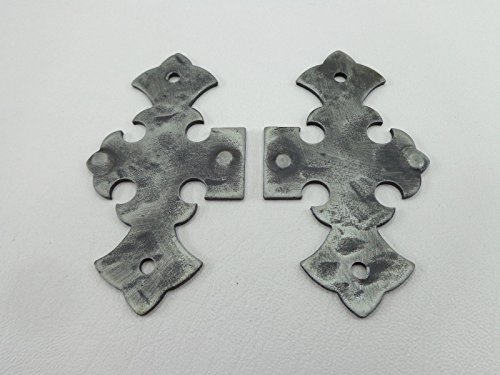 1 Paar Scheinbänder, Scheinband, Zierscharnier, Bänder, Scharnier. Schmiedeeisen