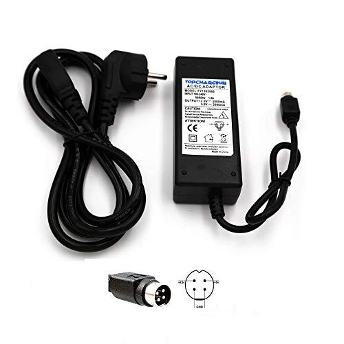 TOP CHARGEUR * Netzteil Netzadapter Ladekabel Ladegerät 12V 5V 2A 4 Pin für Ersatz Multimedia Festplatte WATTAC BA0362ZI-8-A02inklusive Netzkabel