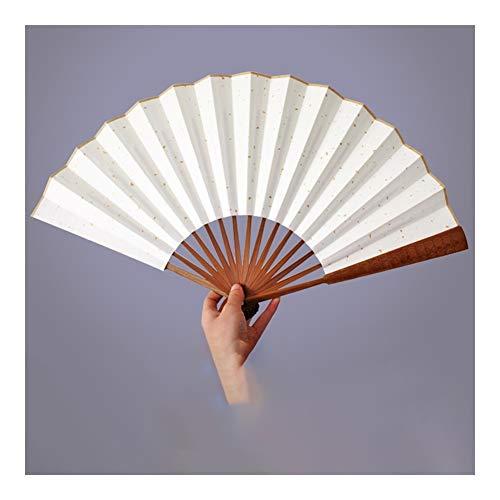 CYQ Faltfächer Handfächer, Folding Hand Rave Fan for Frauen/Männer, Chinease/japanischen Bambus Fan Folding Handventilator, Hand Fan Festival Fan Geschenk Fan (Größe : 9 inch)