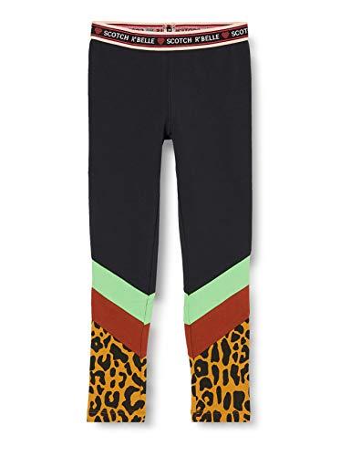 Scotch & Soda R´Belle Girls Colorblock-Design aus Baumwollmischung Leggings, Combo C 0219, 10