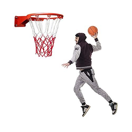 FACAZ Tableros portátiles de Baloncesto para Adultos, aro de Baloncesto con Red, Anillo de aro de Baloncesto, 45 cm de diámetro para casa, Patio Trasero, Tablero de Baloncesto montado