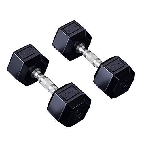 Mancuerna Mancuernas Dumbbell Dumbbells Hexagonal con mancuernas de goma con mango de metal for el entrenamiento de la fuerza, la pérdida de peso, banco del entrenamiento, Gym Equipment, 20 kg Par / 1