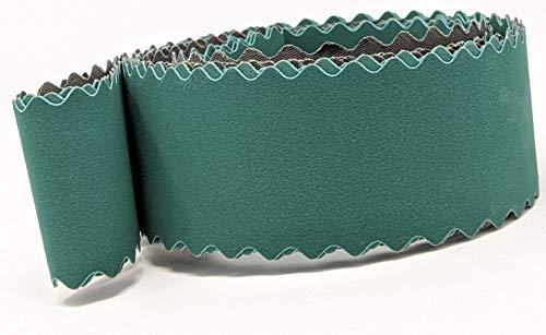 2 x 72 Schleifbänder mit gewelltem Rand, extra flexibel, passend für 2 x 72 Bandschleifer, ideal für ungerade Formen und Messergriff-Konturen (Körnung 220, 400, 600, 3 Stück)