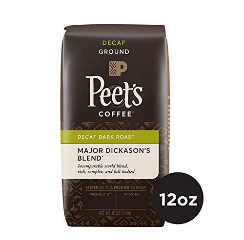 Peet's Coffee Decaf Major Dickason's Blend Dark Roast Ground Coffee, 12 Ounce