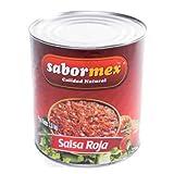 SABORMEX Salsa Mexicana Roja, Salsa Típica de la Comida Mexicana, Bote de 2,8 kg