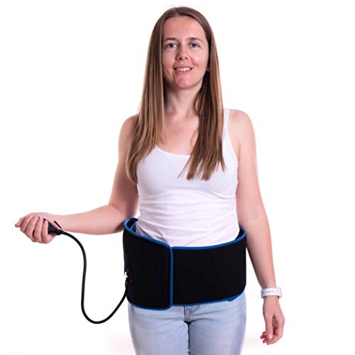 Cold Wrap for Back, Hips & Ribs with Compression and 2 Ice Gel Packs - Great for Back Pain Relief,...