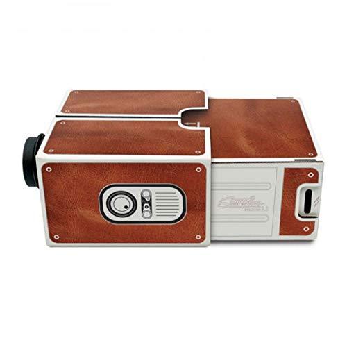 Pigupup DIY Mini Versión 2.0 Cartón proyector portátil de teléfono del hogar...