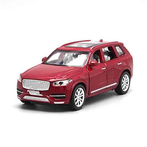 Diecast Model Car 1:32 Diecast Cars for Volvo para XC90 Puertas de juguete de juguete Puertas de retroceso Tirar de la música Luz de juguetes para niños para niños (Color: Rojo) wmpa ( Color : Red )