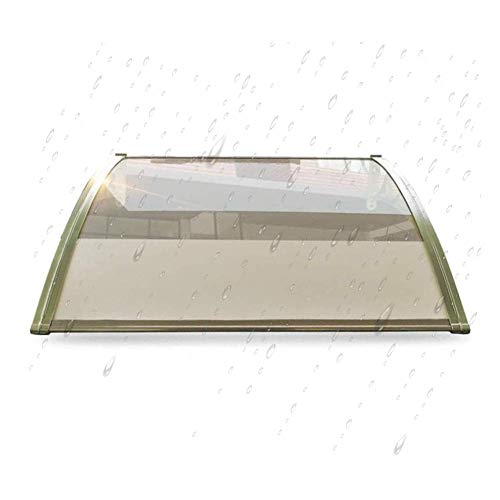 LRZLZY Porch Roof Cover Rain Snow Awning Shade Shelter Protection Easy Fit - Transparent Polycarbonate Sheets (Size : 80CMX80CM)