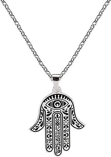 Yiffshunl Collar Mujer Festival Collar Mandala de Mano Vintage Cuero Negro Perla Colgante Joyas Cabujón de Cristal Gargantilla Collar Longitud de Cadena 50 + 5cm Collar