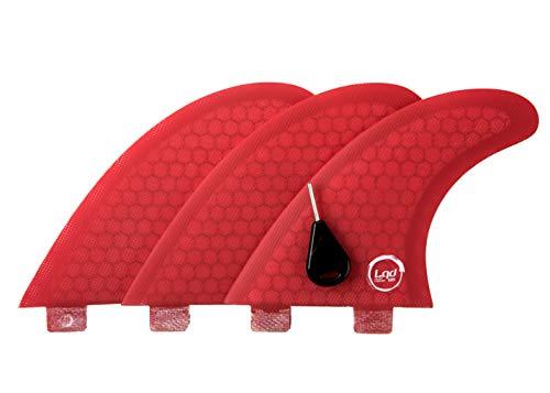 Liquida Flat Carver Aletas de fibra de vidrio con sistema FCS I, G5 Medium Honeycomb (rojo)