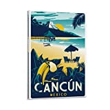 SANDYN Vintage Reise Poster Cancun Mexiko Poster Dekorative